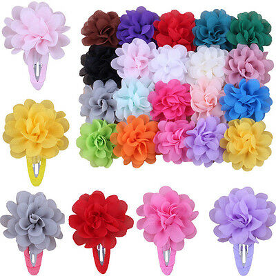 2 Pcs Cute Baby Girls Kids Flower Pumpkin Hair Clip Hairpins Hair Accessories