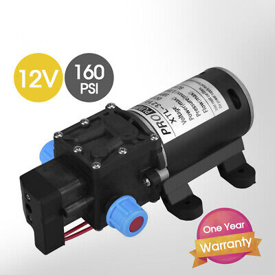 100W 12V 160PSI Pressure Water Pump 8L/Min Self-Priming Caravan Camping Boat