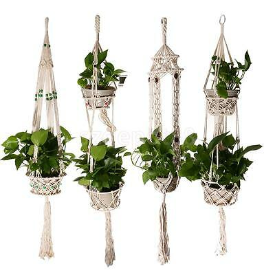 4 Legs Macrame Plant Holder Hanger for Indoor Outdoor Hanging Planter Basket