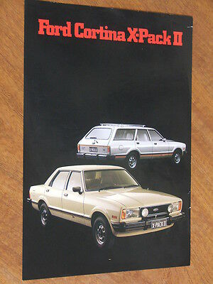 1980 Ford Cortina X-Pack 2 original Australian single page brochure