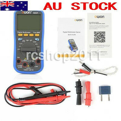 AU OWON Multimeter with Temperature Meter Bluetooth Interface OWON B35T TrueRMS