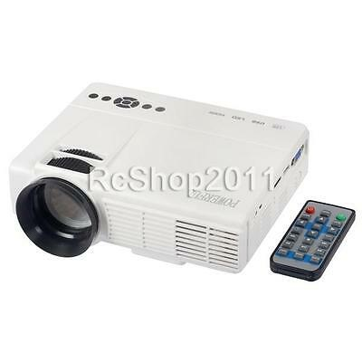 Powerful Q5 Portable 3200LM LCD&LED HDMI HD 1080P 3D Projector Home Theater W