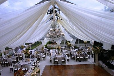 Ceiling Draping Sheer Voile Chiffon Drape Panel Backdrop Wall Divider Wedding
