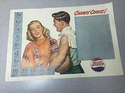 Vintage Pepsi Champs Choice ! Basketball Advertisment Revere F Wistehuff Signals