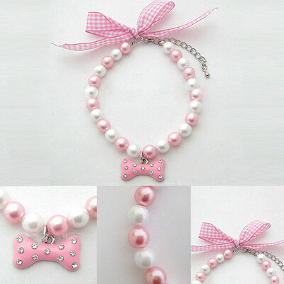 New Sell Pet Collar  Bling Crystal Adjustable Puppy Rhinestone Buckle Necklace
