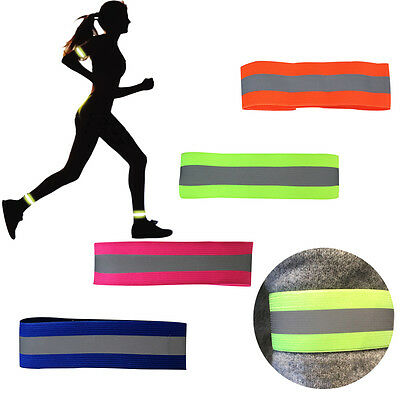 Safety Reflective Arm Band Belt Strap For Night Running Cycling Outdoor Sports