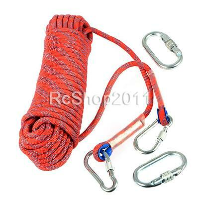 20M 10mm Climbing Rope Outdoor Safty Mountain Rescue Escape Rappelling Auxiliary