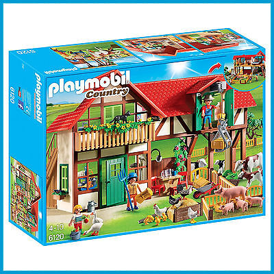 New Playmobil Country Large Farm House Play Set 6120 Figures + Animals 257Pcs