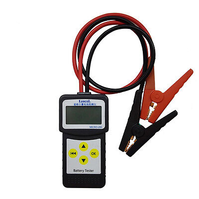 Portable LANCOL MICRO-200 12V Car Battery Load Tester Battery Analyzer 30-200Ah