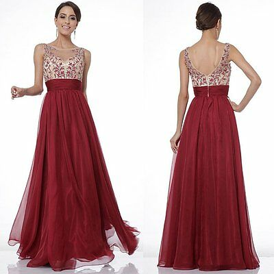 New Womens Bridesmaid Formal Gown Long Dress Party Cocktail Evening Ball Clothes