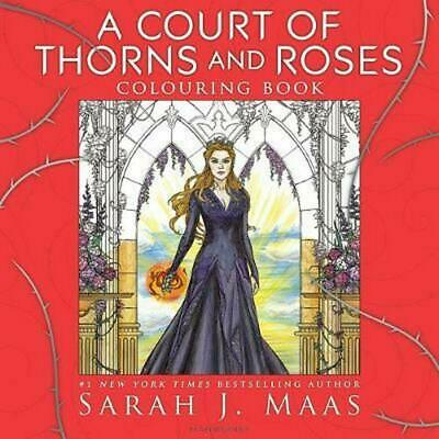 Court of Thorns and Roses Colouring Book by Sarah J. Maas Paperback Book Free Sh
