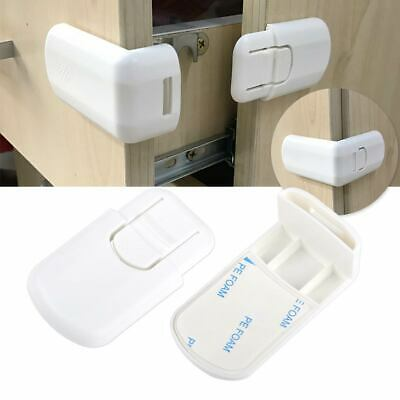 Child Baby Right Angle Cabinet Door Fridge Drawer Cupboard Safety Locks Latch