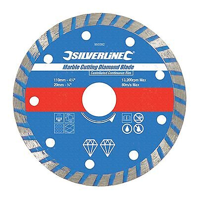 110mm Marble Slate Tile Stone Cutting Wet/Dry Diamond Saw Blade 20mm Bore
