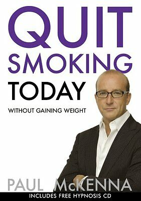 Quit Smoking Today Without Gaining Weight (Book & CD),PB,Paul McKenna - NEW