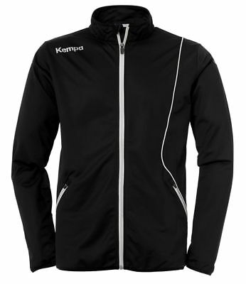 Kempa Kids Curve Classic Sports Training Full Zip Jacket Track Top Black White