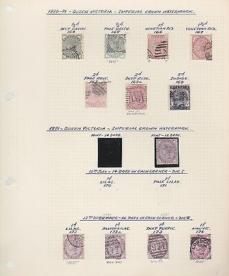 GB QV 1880-81 collection on album page sg164-169