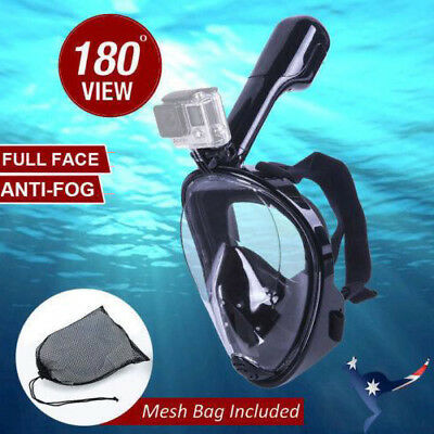 AU Full Face Diving Seaview Snorkel Snorkeling Mask Swimming Goggles for GoPro