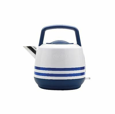 Vintage Retro Prestige 1.5L Kettle, White Enamel Electric 3000W Rapid Boil New