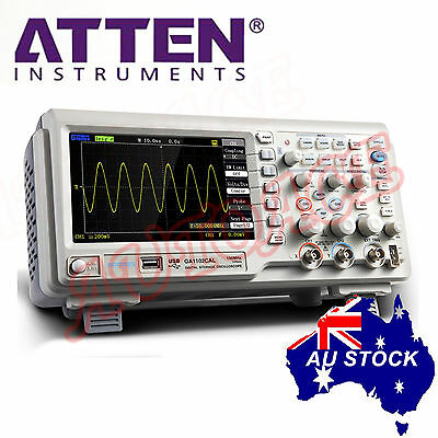 "ATTEN OSCILLOSCOPE GA1102CAL 100MHz 2Ch 7"" Large LCD Screen USB Multimeter OZ"