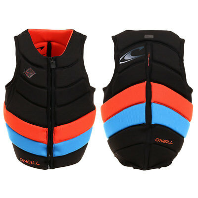2017 O'Neill Gooru Tech Front Zip Comp Vest Black Red Blue