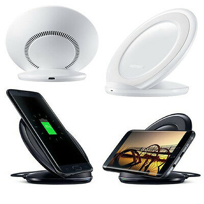 Fast Qi Wireless Charger Charging Pad Stand Dock FOR iPhone X 8 Samsung S9