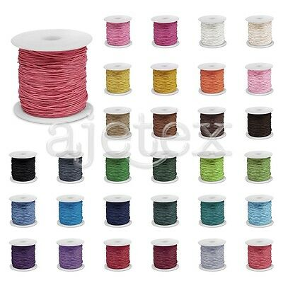 70M Waxed Cotton Cord Beading Thread Jewellery Craft Thong Supply 0.8/1/1.5/2mm