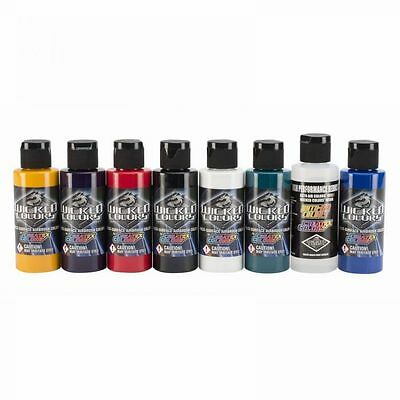 Airbrush Paint - Wicked Colors Sampler Set W102-00 8 x 60ml
