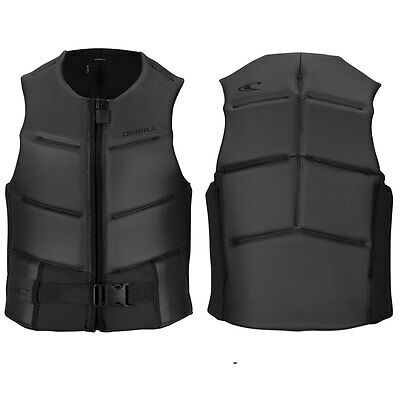2017 O'Neill Outlaw Comp Mens Front Zip Comp Vest , Black