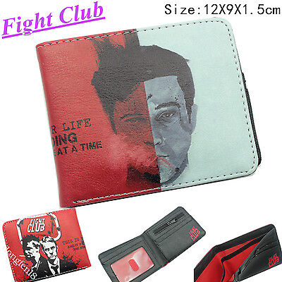 Film Fight Club Faux Leather Herren Geldbörsen Geldbeutel Portemonnaie