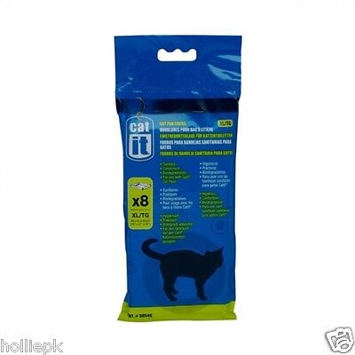 8 pack CAT IT EXTRA LARGE LITTER TRAY LINERS 46 X 43 X 48cm biodegradeable