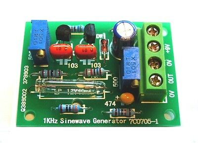 Sine Wave Audio Signal Generator Pre-amplifier / Audio Signal Source Tester diy
