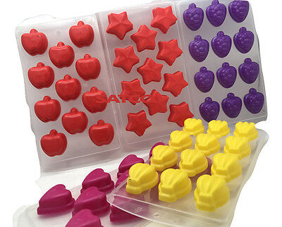 Ice Shape Cube Tray Easy Pop Out Jelly Chocolate Pudding Maker Silicone Mould