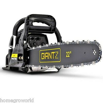 "58cc Commercial Petrol Chainsaw 22"" Bar E-Start Tree Pruning Chain Saw FREE SHIP"