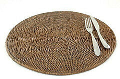 Boao 12 Pieces Plastic Placemats Table Mats Heat Resistant Placemats Dining Mats