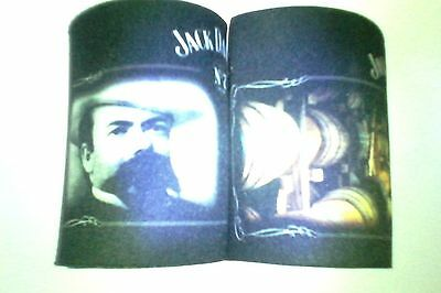 jack daniels wetsuit can coolers (coloured pic of distillery / jd face)
