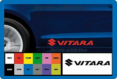 VITARA for SUZUKI - 2 x DOOR - SIDE SKIRT -VINYL CAR DECAL STICKER  - 300mm long