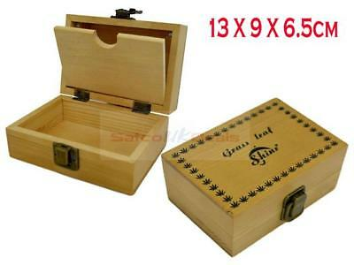 SMALL RAW Wooden Storage Rolling Box Natural Unrefined Rolling Papers Gift New