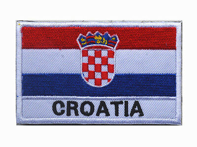 Croatia flag LOGO Patches ARMY MORALE TACTICAL  BADGE HOOK & LOOP PATCH   Sh+755