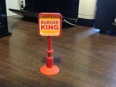 "Vintage 4"" Mini Burger King Sign with Suction Rare"
