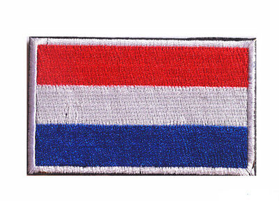 Netherlands flag LOGO Patches ARMY MORALE TACTICAL  BADGE HOOK & LOOP PATCH S757