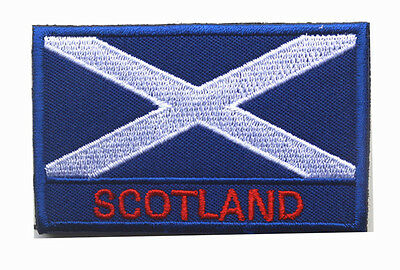 SCOTLAND flag LOGO Patches ARMY MORALE TACTICAL  BADGE HOOK & LOOP PATCH SH+760