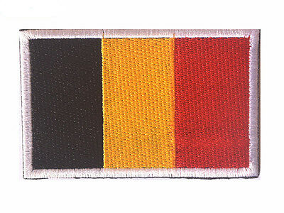 Belgium flag LOGO Patches ARMY MORALE TACTICAL  BADGE HOOK & LOOP PATCH  SH+763