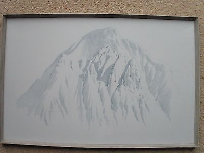 Vintage framed print The Napes, Great Gable by William Heaton Cooper