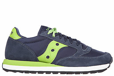 Saucony Scarpe Sneakers Uomo In Nylon Nuove Jazz Suede Details Blu 3E8