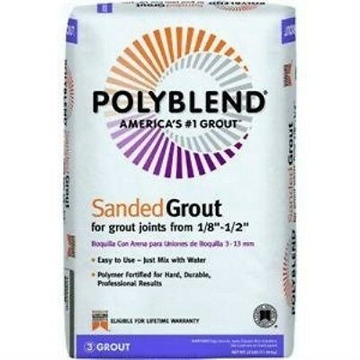 Custom Building Products 45 Polyblend Sanded Tile Grout, 25-Pound, Summer Wheat
