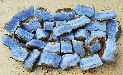 High Grade Blue Lace Agate Rough From Namibia, Africa 10 Lb Lot