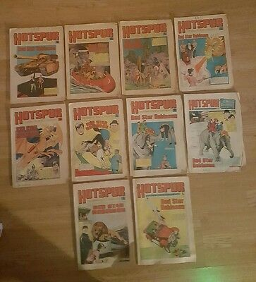 10 Hotspur Comics from 1973 Issues #738 to #747