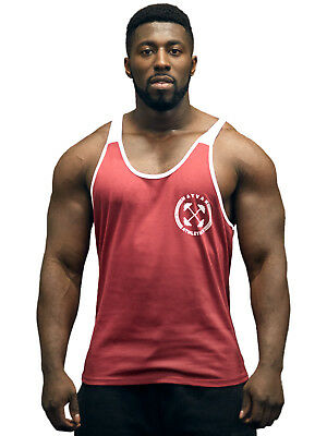 Hayvan Athletics Contrast Stringer Burgundy - TRAININGSSHIRT - TANKTOP