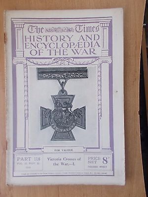 Times History Of The War Wwi Magazine # 118 November 1916 Victoria Cross Deeds