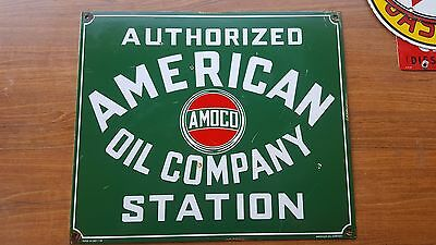 American Oil Company Station Porcelain plate sign garage lube tire